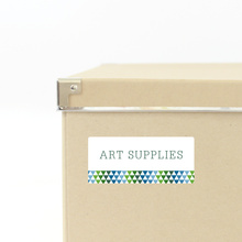 Triangle Storage Labels - Green