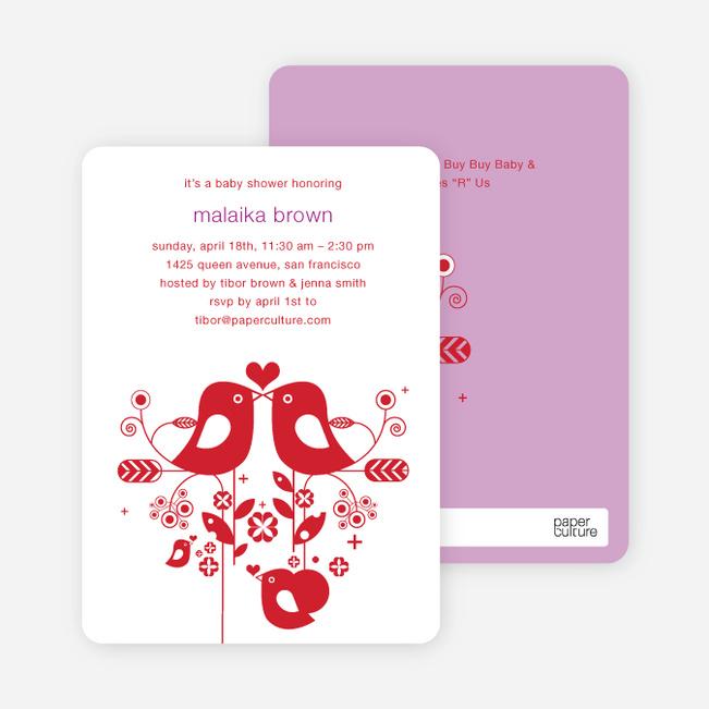 True Love Baby Shower Invitation - Violet
