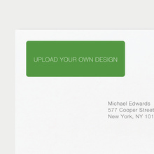 Upload Your Own Return Address Labels - Green
