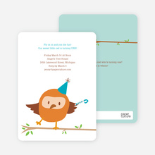 Dancing Owl Party Invites - Clear Sky