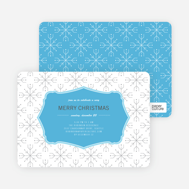 Wrapping Paper Holiday Invitations - Baby Blue