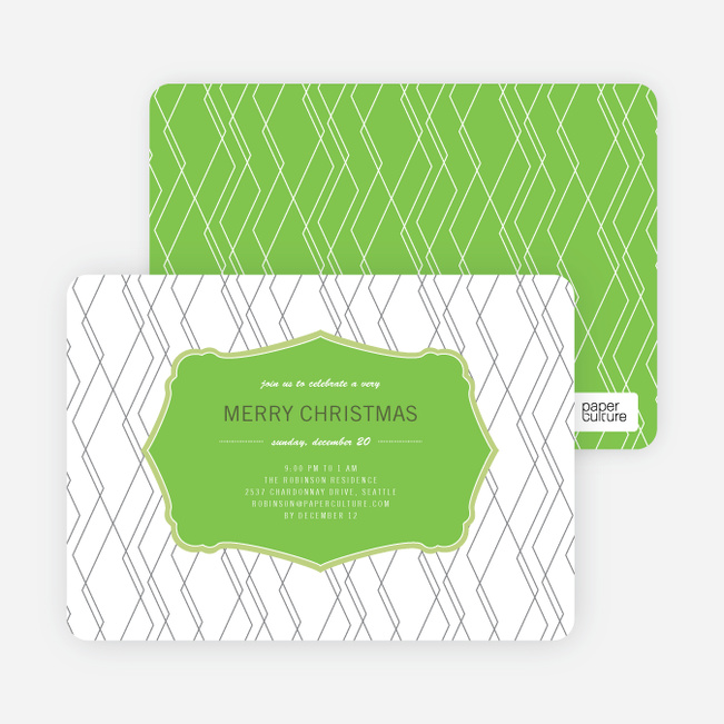 Holiday Invitations: Wrapping Paper - Lemongrass
