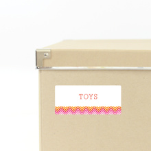 Zig Zag Storage Labels - Pink