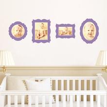 Antique Photo Frame Decals - Purple