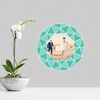 Circle of Diamonds - Wall Decal View