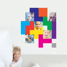 Colorful Blocks Wall Decals with Photos - Multi