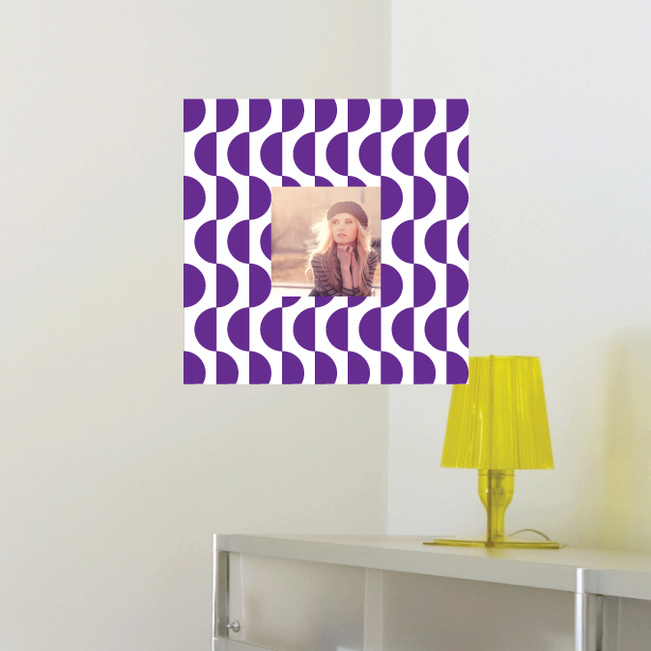 Fashion Frames Photo Wall Decals - Purple