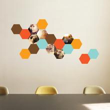 Honeycomb Photo Wall Decals - Orange
