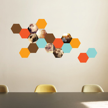 Honeycomb Photo Wall Decals - Orange