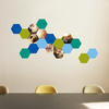 Honeycomb Photo Wall Decals - Blue