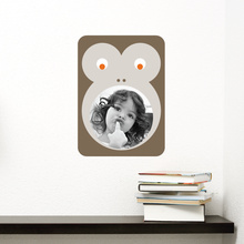 Monkey Photo Frame Sticker - Brown