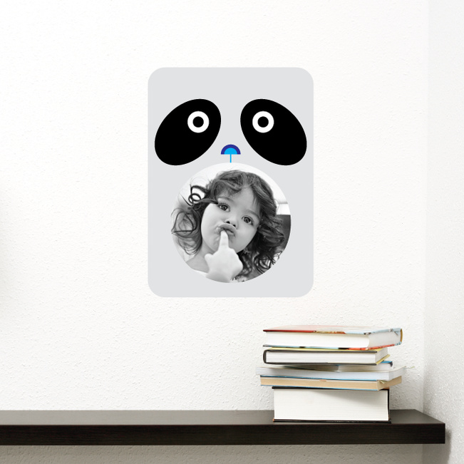 Panda Photo Wall Stickers - Black