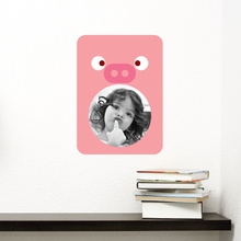 Pig Photo Frame Sticker - Pink