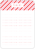 Diagonal Stripes: Thank You Cards - Front View