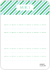 Diagonal Stripes: Thank You Cards - Back View