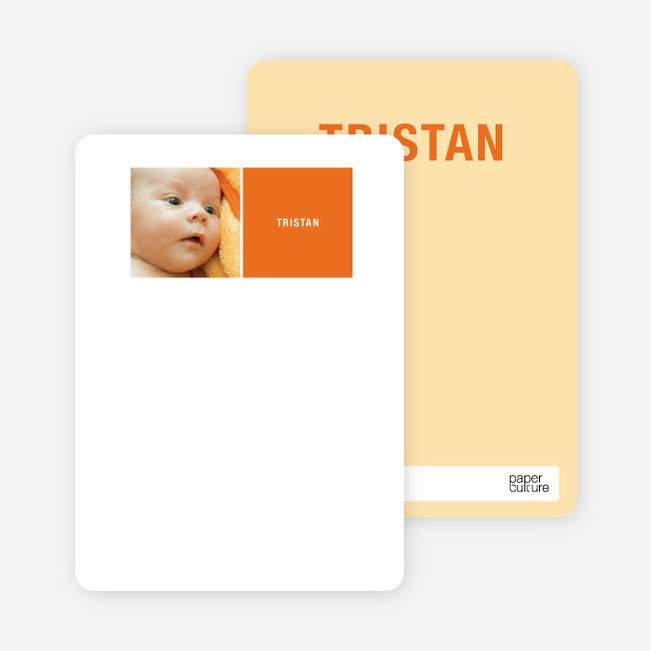 All Square Personalized Photo Note Cards - Cantaloupe