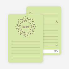 Baby Icon Burst Matching Thank You Cards - Lime Drop