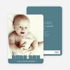 Bold Modern Boys' Baby Announcement - Steel Blue