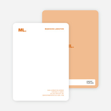 Business Stationery: Personal Monogram or Company Logo - Cinnamon