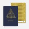 Christmas Tree Flourish Holiday Cards - Gold