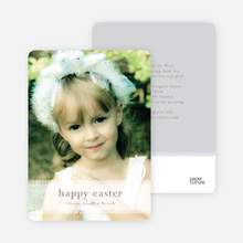 Classic Easter Photo Card - Salmon