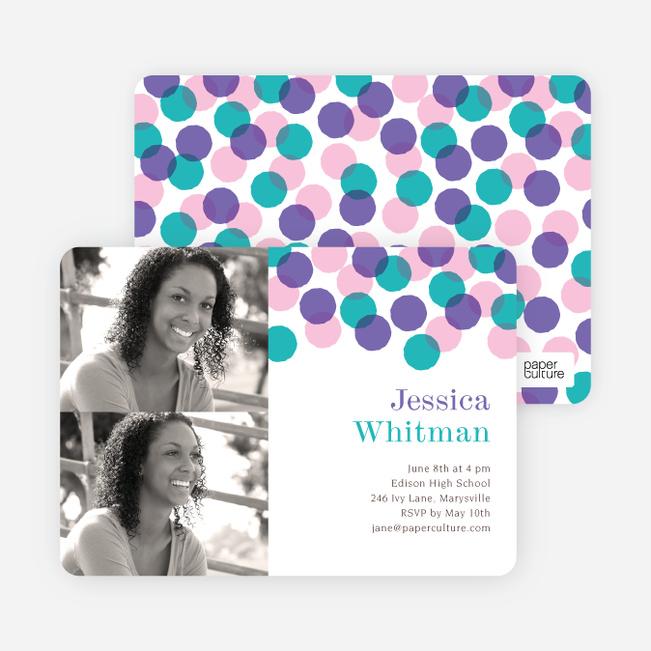 Colorful Graduation Cards - Purple