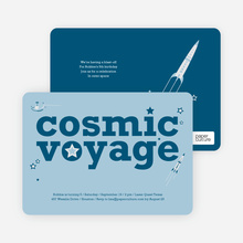 Cosmic Space Voyage Invitation - Cadet Blue