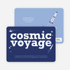 Cosmic Space Voyage Invitation - Purplish Blue