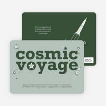 Cosmic Space Voyage - Forest Green