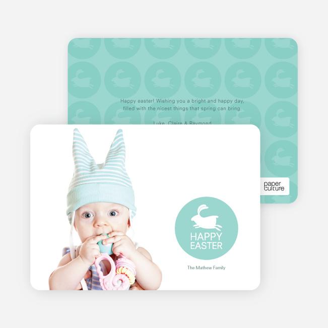 Elise the Easter Bunny Easter Photo Cards - Aquamarine