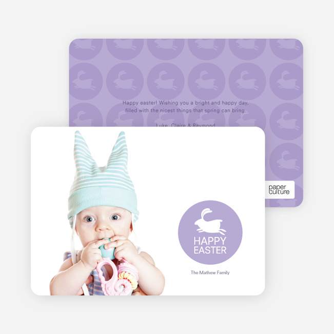 Elise the Easter Bunny Easter Photo Cards - Wisteria