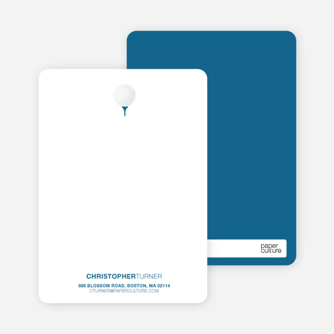 Golf Themed Stationery - Cadet Blue