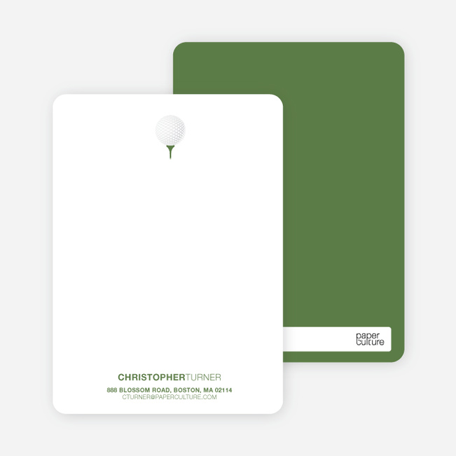 Golf Themed Stationery - Khaki