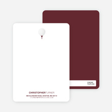 Golf Stationery - Sangria