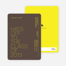 Hats Off to the Class of 2009 - Bright Yellow