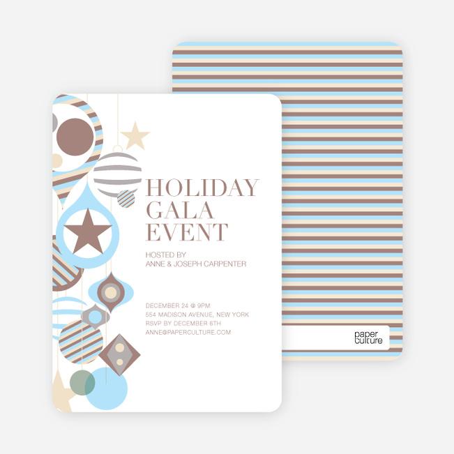 Holiday Gala Holiday Party Invitations - Mocha