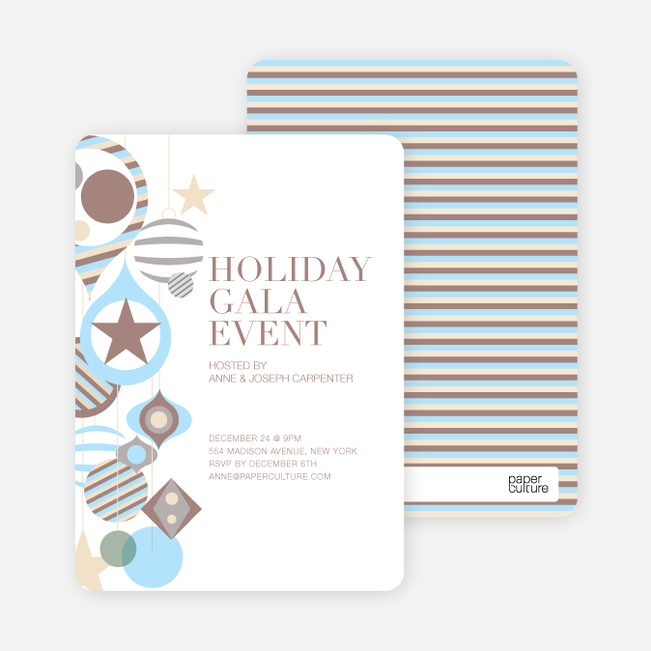 Holiday Gala Holiday Party Invitations - Mocha