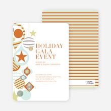 Holiday Gala Holiday Party Invitations - Pumpkin
