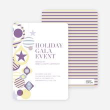 Holiday Gala Holiday Party Invitations - Wisteria
