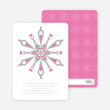 Kaleidoscope Holiday Invitations - Pewter