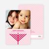 Menorah Wishes Chanukah / Hanukkah Cards - Fuschia