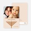 Menorah Wishes Chanukah / Hanukkah Cards - Bronze