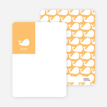 Moby Dick Whale Photo Stationery - Apricot