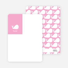 Moby Dick Whale Photo Stationery - Cotton Candy