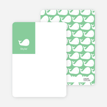 Moby Dick Whale Photo Stationery - Mint Green