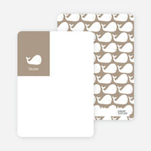 Moby Dick Whale Photo Stationery - Sand