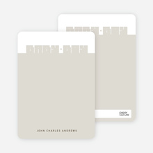 Note Cards: 'Bold Modern Boys' Baby Announcement' cards. - Army Green