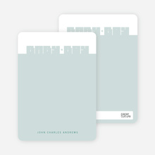 Note Cards: 'Bold Modern Boys' Baby Announcement' cards. - Sea Green