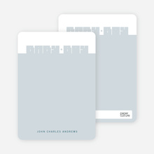 Bold Modern Boys' Notecard - Steel Blue
