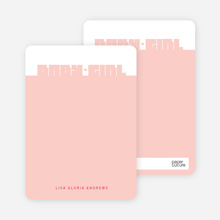 Bold Modern Girls' Notecard - Berry Pink
